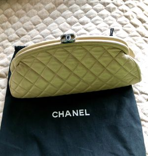 Gorgeous Authentic Chanel Quilted Clutch Beige for Sale in Rockville, MD