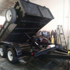 8x10x2 .dump Trailer Ready for Sale in Fontana, CA