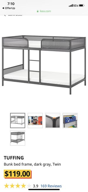 IKEA Tuffing bunk bed frame for Sale in Spring Valley, CA