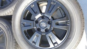 """NEW 20"""" TOYOTA TUNDRA SEQUOIA WHEELS RIMS 99% TIRES BRAND NEW FRESH PROFESSIONAL POWER COAT SATIN BLACK for Sale in Torrance, CA"""
