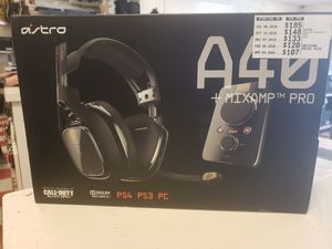 Gaming Headphones Astro A-40 + mixamp pro for Sale in San Angelo, TX