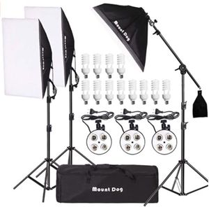 """Photography Lighting Kit with 3 QTY 20""""x28"""" softboxes and 12 QTY 45watt lightbulbs for Sale in Centreville, VA"""