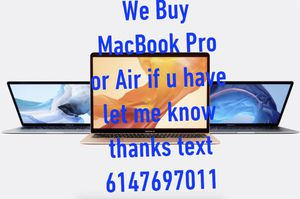 MacBook Air or Pro I'm looking for it for Sale in Columbus, OH