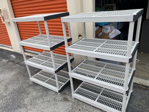 Two plastic shelving units for Sale in Delray Beach, FL