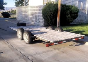 16 ft x 6 ft flatbed trailer for Sale in Tooele, UT