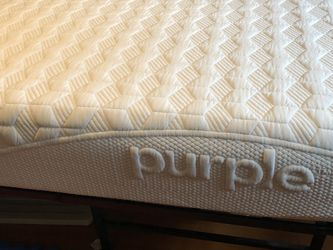 King Size PURPLE Bed, frame & Purple Mattress Cover for Sale in Tacoma,  WA