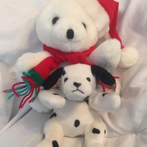 Seasonal Santa Bear And Plush Puppy for Sale in Herndon, VA