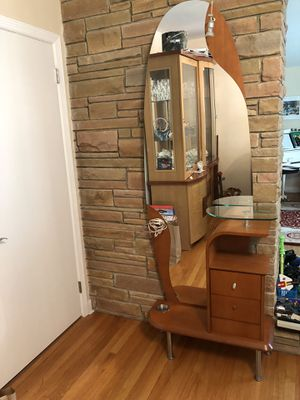 Hallway entry way unit with drawers, mirror, umbrella holder and light storage furniture unit for Sale in Stamford, CT