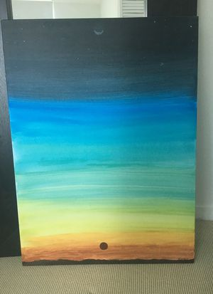 Canvas painting sunset large for Sale in Miami, FL
