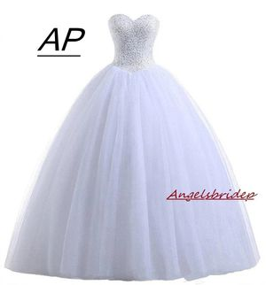 Angelsbridep White Ball Gown Quinceanera Dresses 2019 Charming Sequins Beading Sweet 16 Dresses For 15 Organza Vestido Debutante for Sale in Orlando, FL