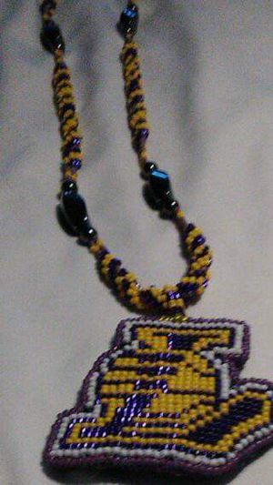 Lakers beaded necklace for Sale in Los Angeles, CA