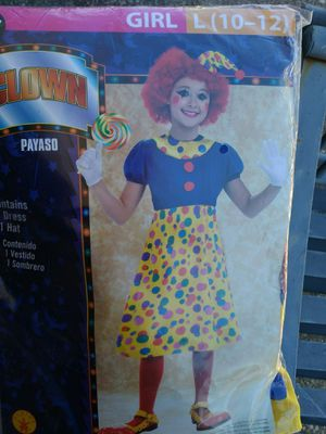 Girls clown costume for Sale in Navarre, FL