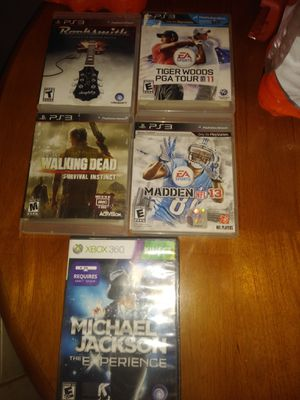 Ps3 5 gemes for Sale in North Las Vegas, NV