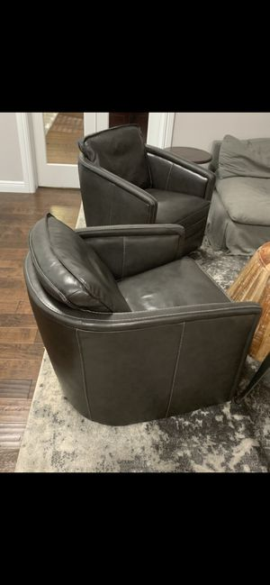 Leather chairs on swivel for Sale in FL, US
