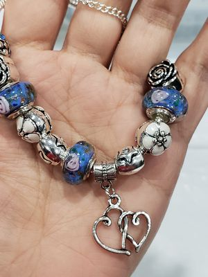 DIY Charm Bracelet - BLUE murano for Sale in Puyallup, WA