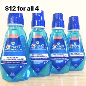 4 Crest Pro-Health Mouthwashes (500 mL EA) - $12 for all 4 for Sale in Anaheim, CA