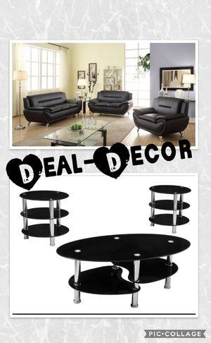 Black Living Room Combo Set for Sale in Atlanta, GA