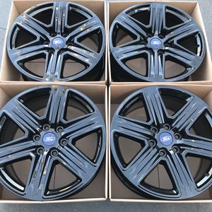 "20"" oem Ford F-150 factory wheels 20 inch gloss black rims powder coat wheel swap for Sale in Santa Ana, CA"