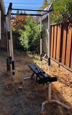 Power rack made by 🇺🇸Tuff Stuff🇺🇸 with weight stack/Lat pulldown for Sale in Pleasanton, CA