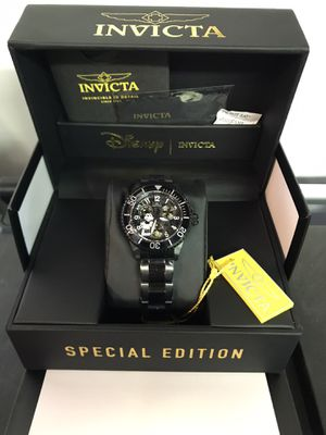 Invicta Disney Limited Edition 38.0mm Black Steel Black Dial Watch for Sale in Buena Park, CA