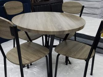 No Credit Needed New Stock Gray Color Round Dining Table Set for Sale in Beltsville,  MD