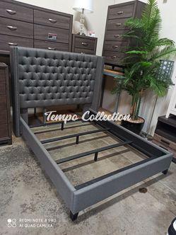 **FLOOR MODEL** Queen Upholstered Bed, Grey, SKU# COA301405TC for Sale in Norwalk,  CA