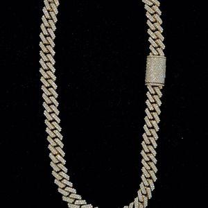 Yellow Gold Miami Cuban Link Chain w/ Diamonds for Sale in Phoenix, AZ