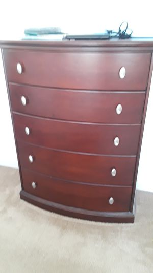 5 piece set. (2) nightstands with black marble top.one dresser. (2) chests for Sale in Rocklin, CA