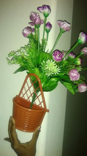 Wall and Wooden Flower Vases with Flowers and Decorations for Sale in Chandler, AZ