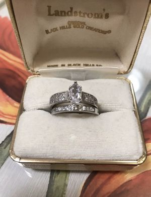 925 Stamped Sterling silver Sapphire Engagement/Wedding Ring for Sale in San Francisco, CA