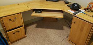 Complete office corner desk, all wood for Sale in West Jordan, UT