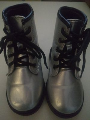 Girls silver toddler boots for Sale in Oro Valley, AZ