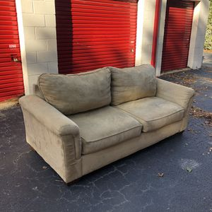 Free Delivery - Tan Suede Couch for Sale in Raleigh, NC