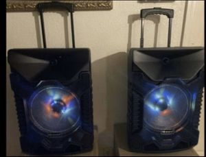 """Two 12"""" Bluetooth speaker new in box with wireless microphone for Sale in CA, US"""