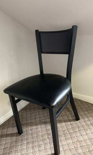 "Table & Seating Black Banquet Chair with 1"" Leather Padded Seat for Sale in Chicago, IL"