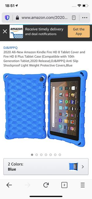 2020 All-New Amazon Kindle Fire HD 8 Tablet Cover and Fire HD 8 Plus Tablet Case (Compatible with 10th Generation Tablet,2020 Release),DJ&RPPQ Anti S for Sale in Philadelphia, PA