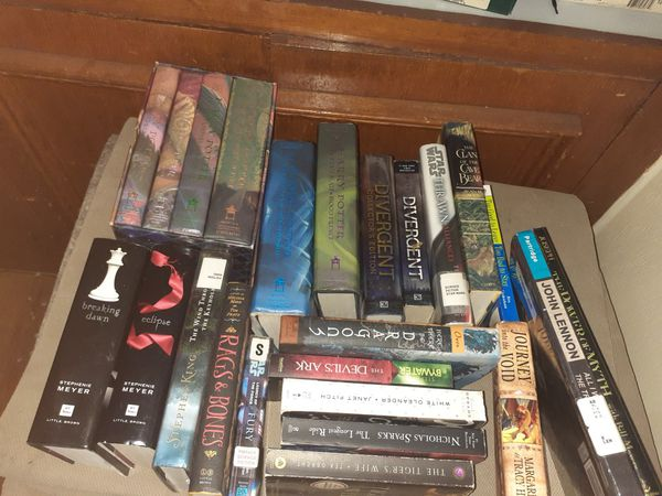 Harry Potter books and other books