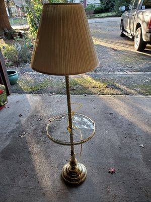 Brass lamp with table for Sale in Bothell, WA
