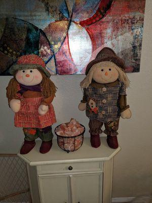 Fall stuffed boy and girl for Sale in Glendale, AZ