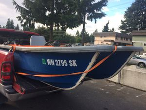 Nice fishing boat. Safe stable 12 foot center console Livingston for Sale in Edmonds, WA