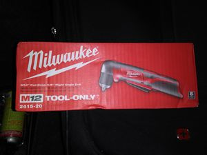 Milwaukee M12 3/8 Right Angle Drill for Sale in Nashville, TN