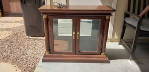 Lighted curio cabinet with glass shelf. Mirror to go with lighted curio cabinet. Price of $30 is for both pieces but do not have to get both. for Sale in Phoenix, AZ