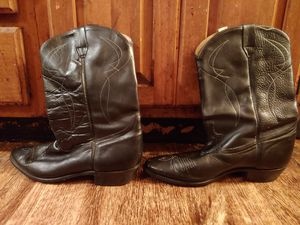 Men's Cowboy Black Leather Boots size 11 for Sale in Springfield, IL