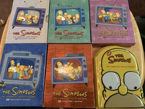The Simpson's DVD Sets seasons 1-6 for Sale in Ontario, CA