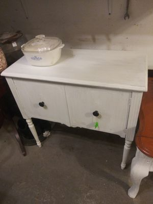 Nice white stand with two opening doors for Sale in Montandon, PA
