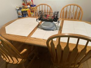 Heavy wooden Dining table set for Sale in Fairfax, VA