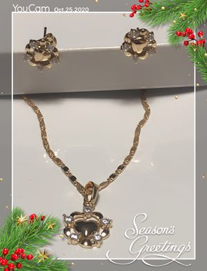 CZ heart necklace set for Sale in Seattle, WA