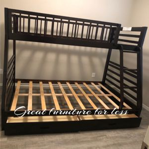 Bunk Bed Twin Over Full With Drawers Brand New for Sale in Phoenix, AZ