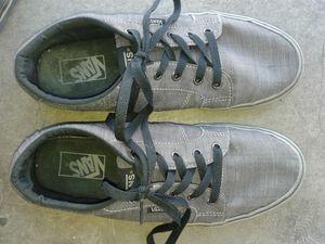Size 9 grey Vans for Sale in Henderson, NV