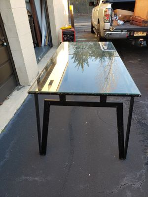 Glass and black iron dining table for Sale in Virginia Beach, VA